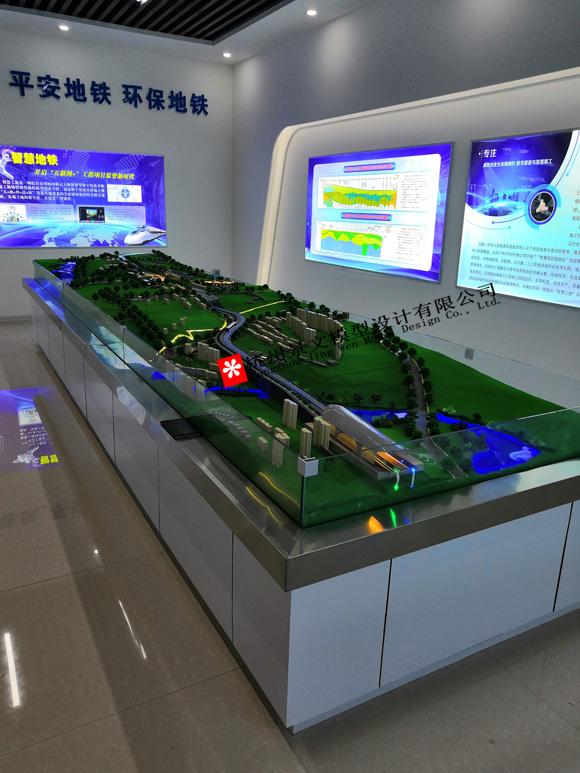 地铁沙盘模型